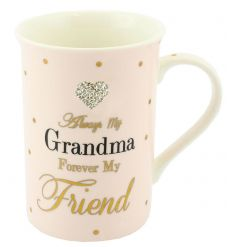 China mug from the Mad Dots range with Grandma text