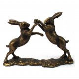 A stunning, fine quality boxing hares ornament. A popular decorative accessory for the home.