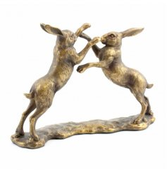 A stylish boxing hares ornament. A fine quality home decoration.