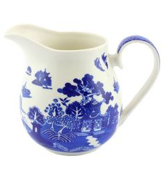 Ceramic jug with popular Blue Willow design