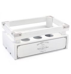 A stylish shabby chic egg crate making a great kitchen accessory and gift for keen bakers.