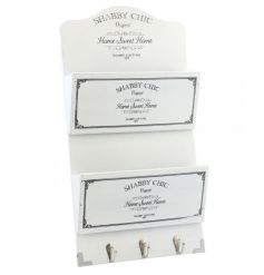 Classic white organiser and key rack from the Shabby Chic range
