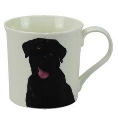 Cute black labrador mug