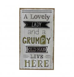 3D style wooden sign with humorous slogan