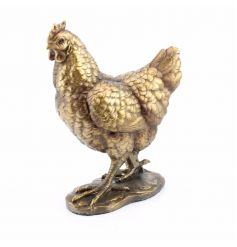 Hen ornament from the Reflections bronzed range