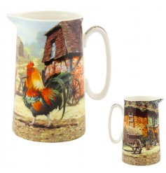 Medium sized jug from the new Cockerel & Hen collection