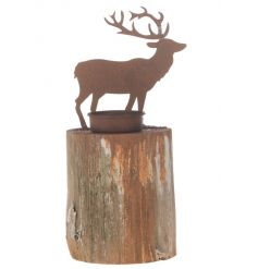 Stag Candle Holder 23cm