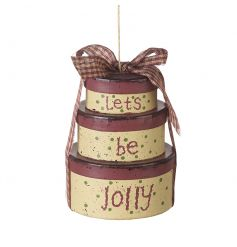 A beautiful bundle of boxes wrapped with gingham ribbon making a charming decoration for the tree this season.
