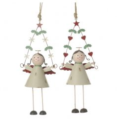 Add some timeless character and charm to your festive collection with these adorable angel decorations.