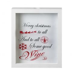 Christmas wine sign and cork collector. A great gift for the festive season.