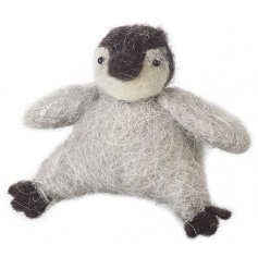 An utterly adorable wool penguin decoration. An unmissable festive item.