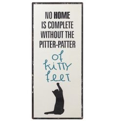 Kitty Feet Metal Sign
