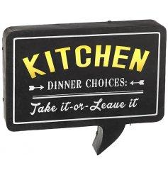Kitchen Sign LED Light Up Large 46cm