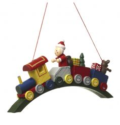 Hanging Wooden Train