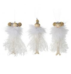 A mix of 3 charming Christmas ballerina figures each with a glitter skirt. A must have this season!