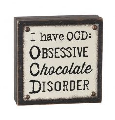 A humorous 3D plaque which is ideal for chocolate lovers.