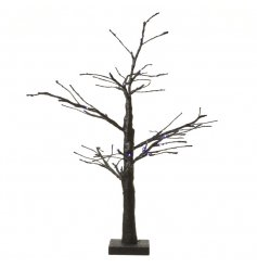 Quirky black LED glitter tree. Perfect decorative piece