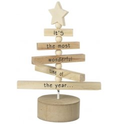 The most gorgeous mini wooden tree decoration with spinning branches.