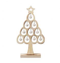 Simplistic Alpine Christmas Tree w Bells 25cm