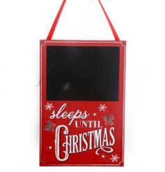 Red christmas design blackboard for countdown