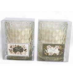 Add a warming fragrance to the home this season with this assortment of chic cut glass candle pots.