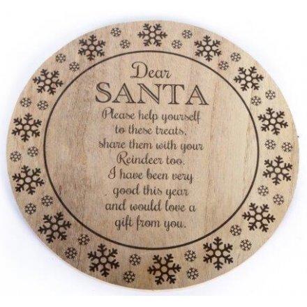 Santa Treat Plate 25cm