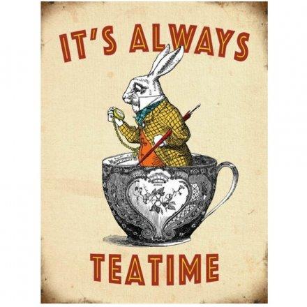 Time For Tea Metal Sign