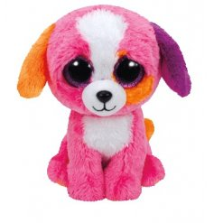 complete with her super soft fur and funky colourful ears, this little pup will sit well on any adventure