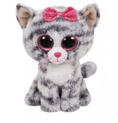 a cute and cuddly TY soft toy with bright pink sparkly eyes and super soft snuggly fur