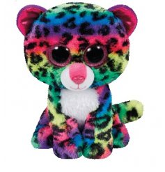 Add a touch of magical charm to your little ones plush toys with this adorable multi toned Beanie leopard