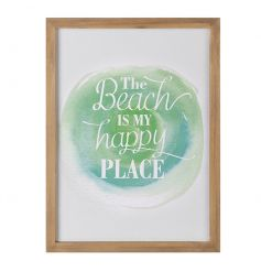 Happy Place Plaque, 35cm