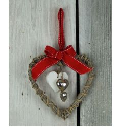 Hanging Woven Hearts With Inner Hearts