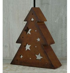 Creating a warming glow this season with this on trend 3D tree t-light holder with a rustic copper finish.