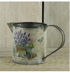 Lavender printed zinc jug