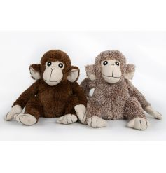 Cute monkey doorstops in 2 assorted designs. A great home accessory.