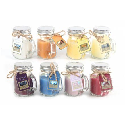 8 Assorted Fragrance Jars, 8cm