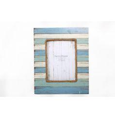 Blue Tone Stripe Frame