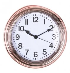 Electroplated style copper clock for the home