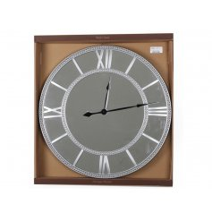 luxury mirrored wall clock