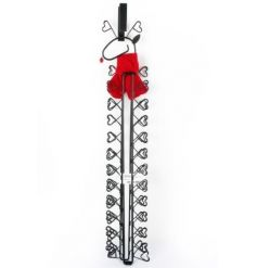 This adorable reindeer holder with red scarf is the perfect way to display your cards this season.