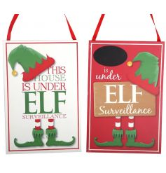 Decorate the home this season with these fantastic elf signs.