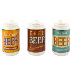 3 assorted beer can money boxes