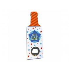 Groovy Number 1 Dad bottle opener