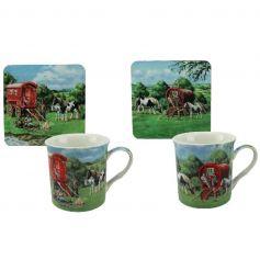 Travellers Mug and Coasters Set