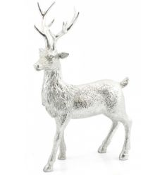A beautiful reindeer figure in silver. A fabulous home accessory.