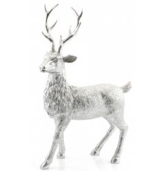 Create that wow factor with this stunning silver reindeer figure.