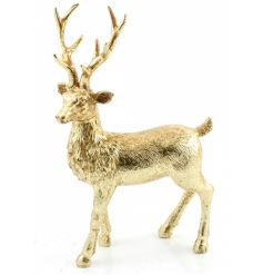 A stunning reindeer figure with a rich gold finish. The perfect way to create that wow factor this season.