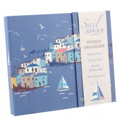 Handy weekly organiser from the new Sail Away range