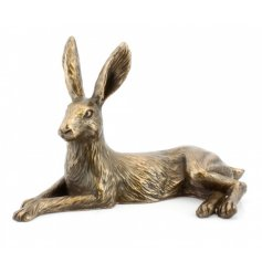 Large Bronze Lying Hare
