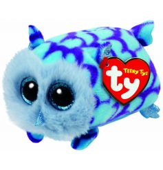 Soft toy beanie from the new TY Teeny range, cute blue Mimi